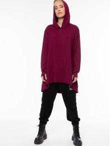 Hoodie Dress/Sweatshirt - Red